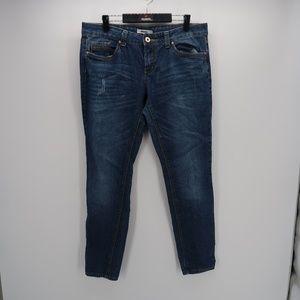 Bongo Women's Blue Skinny Jeans Size 13